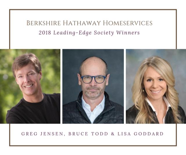 Berkshire Hathaway HomeServices 2018 Leading-Edge Society Award